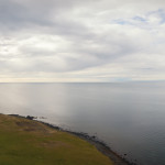 Iceland panorama, landscape, selfie, pano, cliff