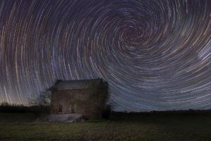 Abandoned Spiral Star Trails