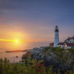 Portland Light Maine Sunrise