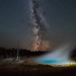 silex spring milky way yellowstone national park wyoming