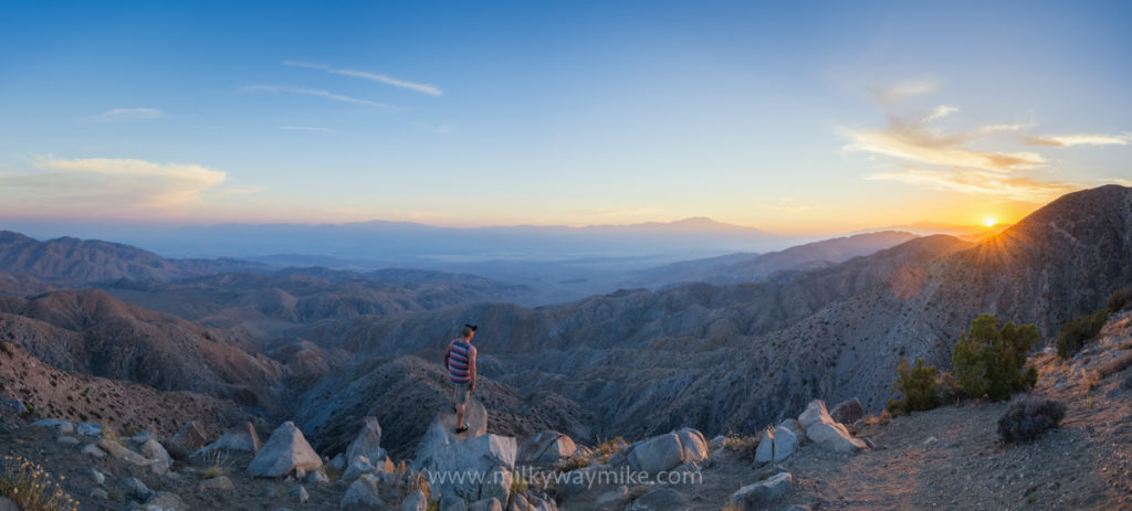 hike with mike, keys view, sunset panorama