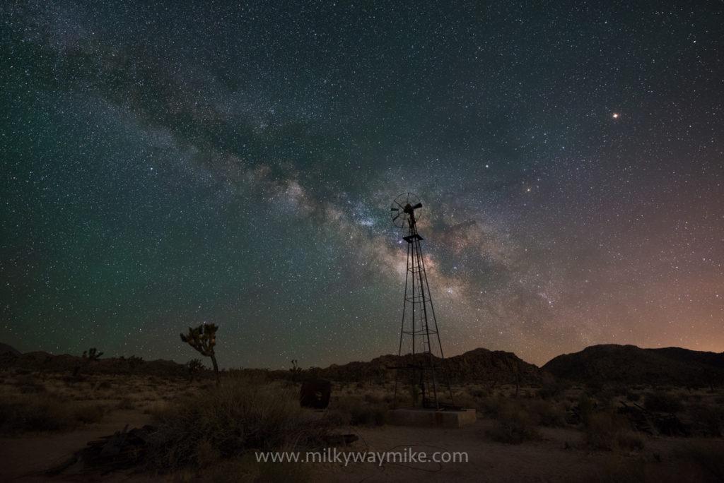 Abandoned Windmill Milky Way at Joshua Tree NP