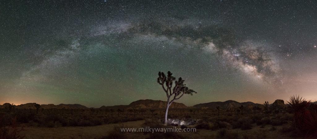 Milky Way Panorama At Joshua Tree National Park