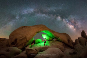 Arch Rock Milky Way Panorama at Joshua Tree National Park, Midnight Explorer aka milky way mike