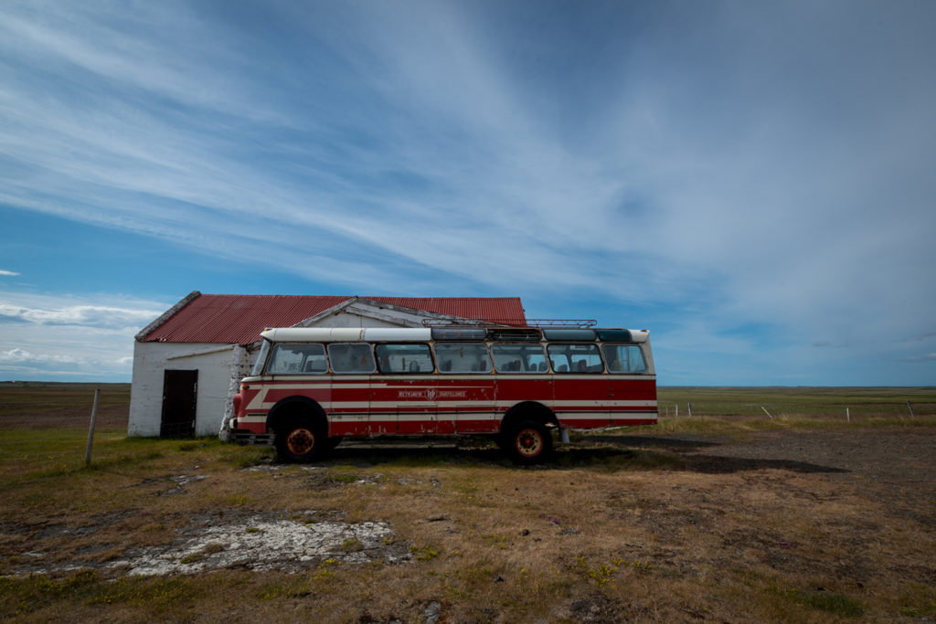 Retro Bus in Iceland